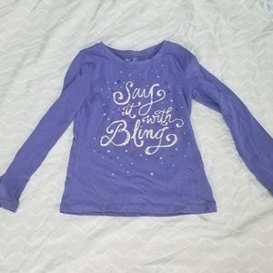 Say it with bling size medium top